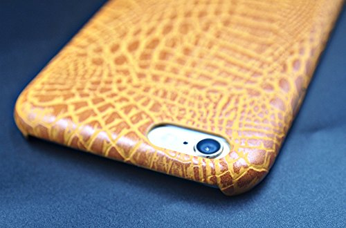 Apple Iphone 6 6S Hülle Nnopbeclik® TPU+PC Ultra Slim Silikon Schutzhülle Hard Back Cover Case, 3D Druck Print Krokodil Pattern Schutzhülle Muster Full Protective Glänzend Kristall Stoßdämpfend Schutz Golden