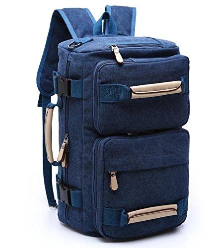 &ZHOU Borsa di tela, Uomini e donne grande capacità multi-purpose borsa tracolla borsa Messenger Borsa zaino zainetto borsa di tela , khaki deep blue