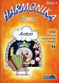 HARMONIKA EXPRESS 1 - arrangiert für Steirische Handharmonika - Diat. Handharmonika - mit CD [Noten / Sheetmusic] Komponist: PRASSL RENATE + HIRSCHMANN WALTRAUD + ZACH MICHAEL