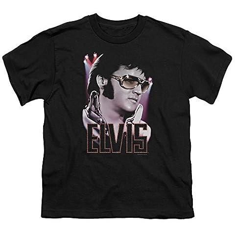 Elvis - 70 Star-Jugend-T-Shirt in schwarz, X-Large (18-20), Black