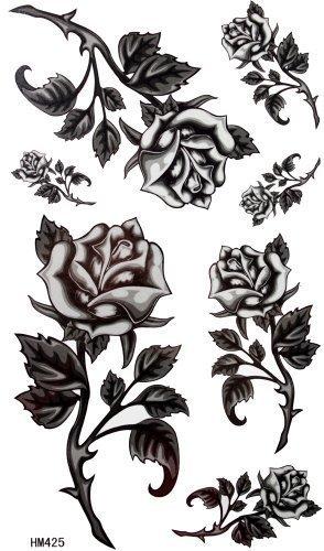 König Horse Black roses Stacheldraht Tattoo weiblichen wasserdicht Aufkleber