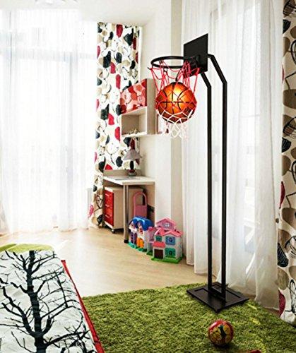 NAUY- Camera di pallacanestro Luce individualità creativa Soggiorno Lampada post-moderno decorazione di arte Lampade a stelo Ristorante Studio camera per bambini Lampada da terra verticale stile continentale