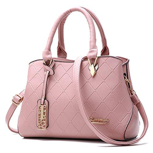 Ruiren Shopping Soft Bag Portable Umhängetasche Frauen Messenger Bags Frauen Handtasche Schultertasche Rosa