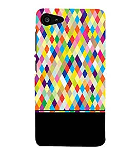 FIOBS pixels diamond cuts polygonal multishade colours art Designer Back Case Cover for Lenovo ZUK Z2