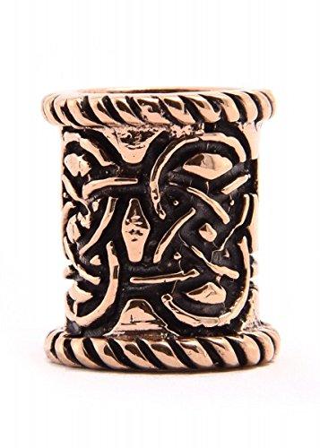 mit Knotenmuster aus Bronze oder Silber Bartperke Dreadlocks LARP (Bronze) ()