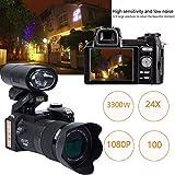 Jiayuane Appareil photo numérique, 33 millions de pixels Auto Focus POLO PROTAX Professional Reflex Appareil photo vidéo Zoom optique 24X Trois objectifs