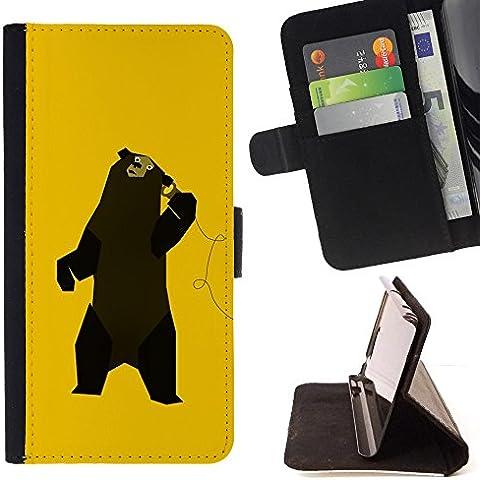 All Phone Most Case / Cellulare Smartphone cassa del cuoio della calotta di protezione di caso Custodia protettiva per APPLE IPHONE 7 PLUS Apple iPhone 7Plus // Funny Music Bear Dancing