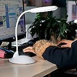 LED Schreibtischlampen 3W 16 LED, Pugo TOP EURO® Noten-Sensor-LED Kids Eye Care-Lampen-Licht mit einstellbarer Schwanenhals für Heim, Pc, Lesen, Akademisches Lernen, Arbeiten (weiß)