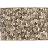 Sitap Alfombra Moderno – alfombra diseño estampado a rombos beige Laguna 63263 – 6282