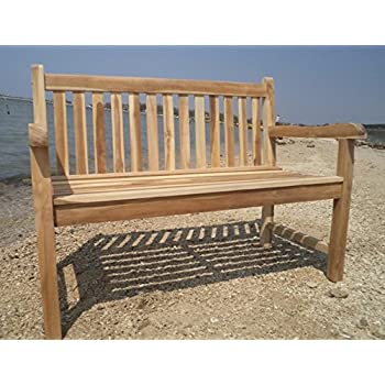 massive teakbank 2 sitzer gartenbank 120 cm holzbank parkbank teak bank. Black Bedroom Furniture Sets. Home Design Ideas