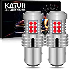 KATUR 1157 BAY15D P21/5W 1034 7528 LED Bulbs Super Bright 12pcs 3030 & 8pcs 3020 Chips Canbus Error Free Replace for Turn Signal Reverse Brake Tail Stop Parking RV Lights,Brilliant Red(Pack of 2)