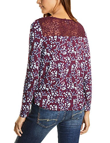 Street One Printed Shirt W.Lace, T-Shirt Donna Violett (Master Wine 21018)