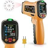 Thermomètre infrarouge janisa ad6530d Thermomètre numérique laser sans contact Pistolet Température Cercle Couleur affichage -58°F à 1472°F avec ouverture 12Point Fonction alarme de température