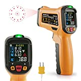 Thermomètre Infrarouge Temperature Laser JanisaAD6530D Cuisine Interieur Mesure Temperature -50℃ à 800℃ Sans Contact Avec 12 Points Aperture Fonction Température Alarme Rapid Sight Lire Francais PDF