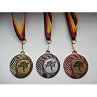 Pokale & Preise Judo Kampfsport Pokal Kinder 50 x Medaillen Deutschland-Bändern Turnier Emblem