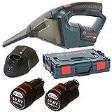 Bosch Akku-Staubsauger +Schnellladegerät AL 1130 CV, GAS 10,8V-LI 2 x 2,5 AH L-Boxx UNI