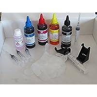 4 x100 ml kit inchiostro compatibile per ricarica cartucce HP hp 901 nera e 901 colore