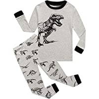 Little Pajamas Boys Pyjamas 100% Cotton Long Sleeve Dinosaur Toddler Clothes Kids Sleepwear