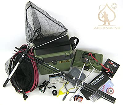 Beginners Starter Coarse Float Fishing Kit Set - 10ft Carbon Rod, Reel, Seat Box & Tackle from Silver Bullet Trading