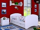 Happy Babies Happy Kinderbett Jugendbett Juniorbett Bett 140 x 70 x 60 cm aus hochwertiger...