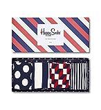 Happy Socks Damen Stripe Socken Gift Box, Blau (Stripe Gift Box), 36-40 EU