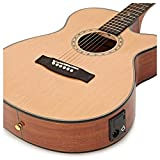 Deluxe Single Pan Coupé Electro acoustique guitare + 15W Pack Ampli naturel