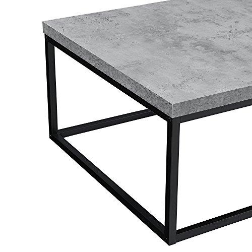 🛋 [en.casa]® Couch-Tisch Design MDF Metall Gestell Beistelltisch ...