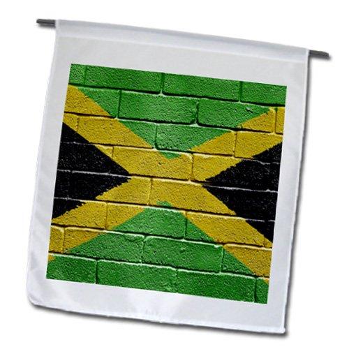 _ 1National Flagge von Jamaika ein Brick Wand gemalt jamaikanischen Garten Flagge, 12von 18 (Fotos Von Jamaika)