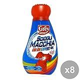 Set 8 GREY SCIOGLI MACCHIA COLOR EXPERT Gel 750 Ml. Detergenti casa