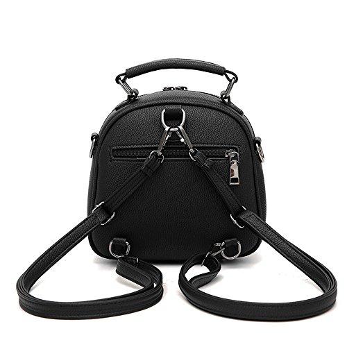 Mini Schwarzer Rucksack Phone Rucksäcke PU Leder Backpack Handtasche Für Frauen Mädchen Daypack Grüner Rucksack