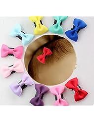 cuhair (TM) 8sans danger pour bébé fille Noeud fleur étoile Pince à cheveux épingle à cheveux fleur cheveux accessoires