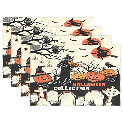r Halloween, Friedhof, hitzebeständig, 30,5 x 45,7 cm, Multi, 6 Stück ()
