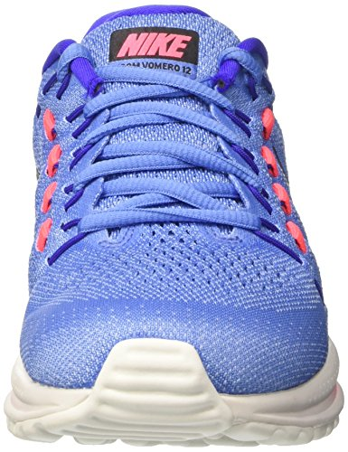 Nike Wmns Air Zoom Vomero 12, Sneakers Femme Bleu (Polar/black/paramount Blue/aluminum/hot Punch)