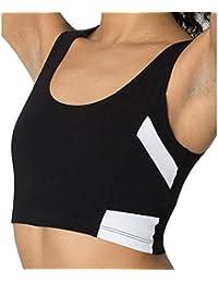 Sport BH Chaleco HARRYSTORE Mujer sosténes deportivas de yoga cómoda y elástico Ropa interior Push Up Camisetas sin mangas para correr Fitness