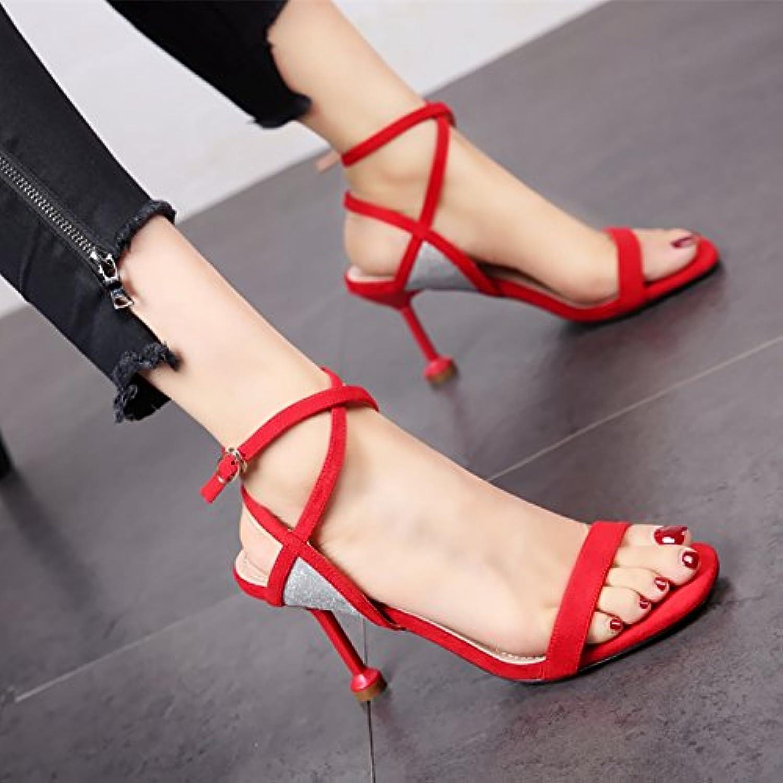 0919704ae70f YMFIE Summer new sexy toe toe Summer 29144 matching straps B07D78V8KH high  heel shoes ladies  sandals. B07D78V8KH Parent 8802c09