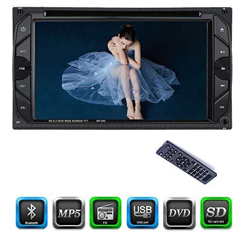 Mengen88 Auto MP5 DVD-Player, 6,2 Zoll Auto Bluetooth Stereo Auto FM Radio Multimedia-System mit HD Digital Touchscreen Kompatibel mit U-Disk/SD-Karte/AUX-Schnittstelle Touch High-definition-stereo