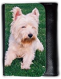 le portefeuille de grands luxe femmes avec beaucoup de compartiments // V00003977 West highland terrier // Medium Size Wallet