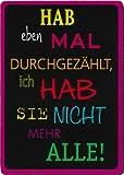 Taurus Kunstkarten Kühlschrankmagnet Sprüche & Humor Hab eben mal durchgezählt, ich hab sie Nicht mehr alle!