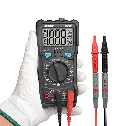 ILS - DM90E Auto Range Digital-Multimeter 1999 Punkte Hintergrundbeleuchtung VFC-Test AC/DC-Amperemeter Voltmeter Ohm behandelter Multitester Multi Meter