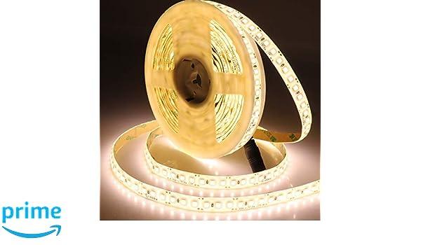 STRISCIA A LUCE LED BIANCA FREDDA SMD 5050 STRIP 5 METRI 300 LED IMPERMEABILE SC