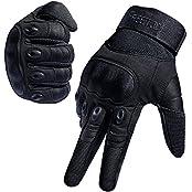 FREETOO TP40210463-DE-F, [Sport Handschuhe] FREETOO Motorrad Handschuhe Herren Vollfinger Army Gloves Ideal für Airsoft, Militär,Paintball,Airsoft, lebenslange Garantie