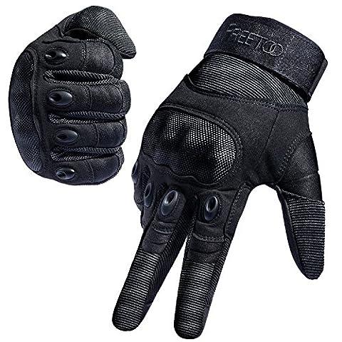[Sport Handschuhe] FREETOO® Motorrad Handschuhe Herren Vollfinger Army Gloves Ideal für Airsoft, Militär,Paintball,Airsoft, lebenslange Garantie