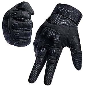 FREETOO Guanti Sportivi con Protezione Dita, Dissipazione del Calore Traspirante, Ideale per Moto, Ciclismo, Scooter, Bici, Camping e Outdoor (M)