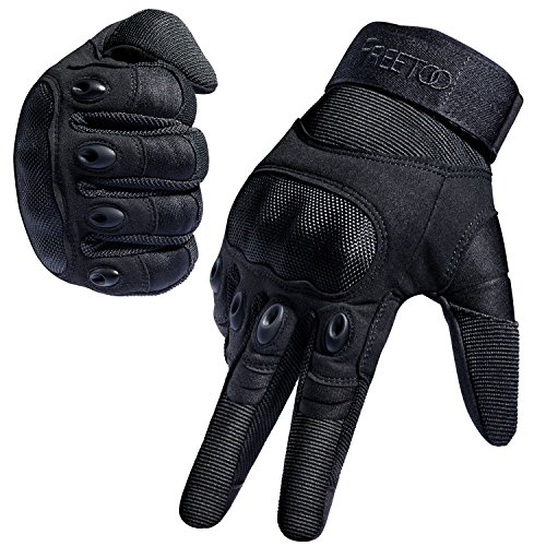 [Sport Handschuhe] FREETOO® Motorrad Handschuhe Herren Vollfinger Army Gloves Ideal für Airsoft, Militär,Paintball,Airsoft, lebenslange Garantie