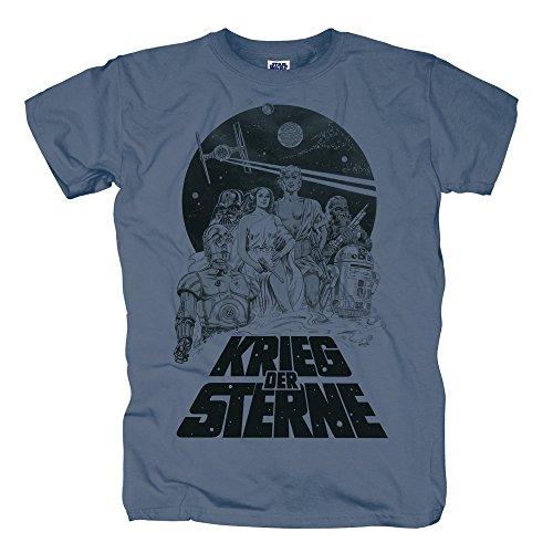 TSP Star Wars - Krieg der Sterne T-Shirt Herren XXL (Stadt Party Kostüm Luke Skywalker)