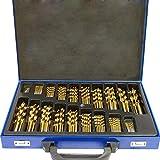 MCTECH 170-teilig Metallbohrer Set Metallbohrersortiment HSS geschliffen, Split Point Handbohrmaschine Spiralbohrer Bohrersets Profi-Steinbohrersatz Bohrer Set (170 pcs)