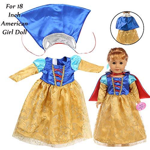 ALIKEEY Hermoso Vestido De Princesa De 18 Pulgadas De La...