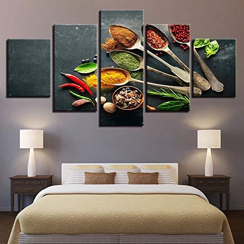 adgkitb canvas Hd Poster Tableau Peinture Sur Toile Korn Gewürz Fünf Stücke Künstler Living Music Restaurant Malerei KEIN Rahmen -