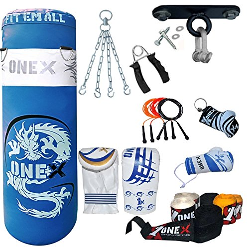 onex-bag-glove-mma-punch-bag-3ft-ufc-hanging-chain-wall-bracket-boxing-training