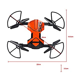 SYMTOP RC Drone Quadcopter 33056S Racing Foldable Brushed RTF ORANGE 2.4G 4CH WiFi FPV 0.3MP Camera Coreless Motor